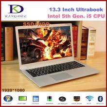 Newest 13.3″ Core i5-5200U laptop notebook 4GB RAM+128GB SSD+500GB HDD,1920*1080 WIFI Bluetooth Metal case 6600mAh windows 10