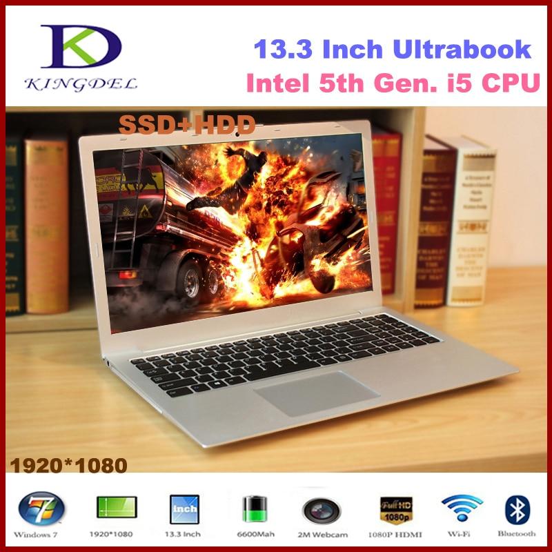 Newest 13 3 Core i5 5200U laptop notebook 4GB RAM 128GB SSD 500GB HDD 1920 1080