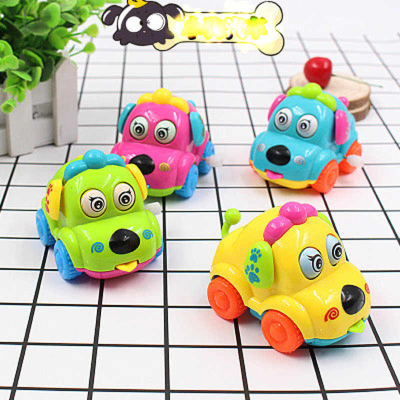 High Quality Baby Kids Clockwork Funny Toy Cartoon Puppy Clockwork Car Educational Toys MultiColor Animal Toy Car