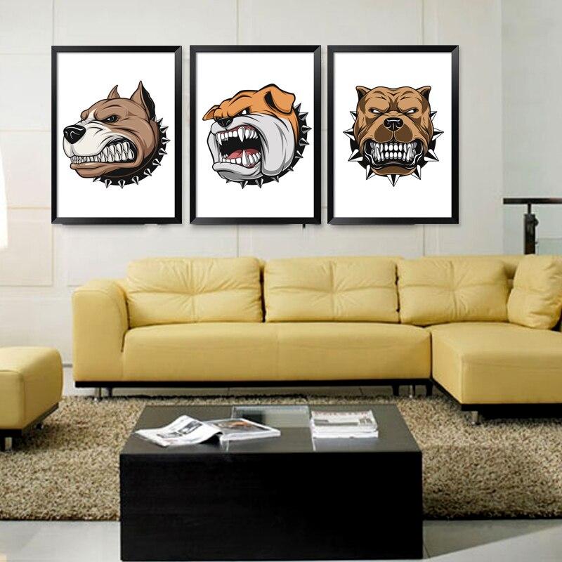 Scandinavian Style BANMU Nordic Cartoon Animals Large Art Prints ...