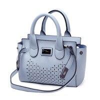 Top Handle Bags Fashion PU Female Handbag Sac Women Shoulder Strap Bag 2017 New Small Blue