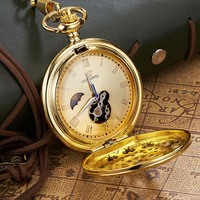 2017 New OUYAWEI Pocket Watch Fullmetal Alchemist Mechanical Pocket Watches Man Coupon For Relogio Masculino Clock