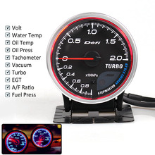 Defi Advance CR 2.5inch 7Colors Oil Temp Gauge Turbo Boost Water Press RPM Vacuum EXT Fuel with Sensor