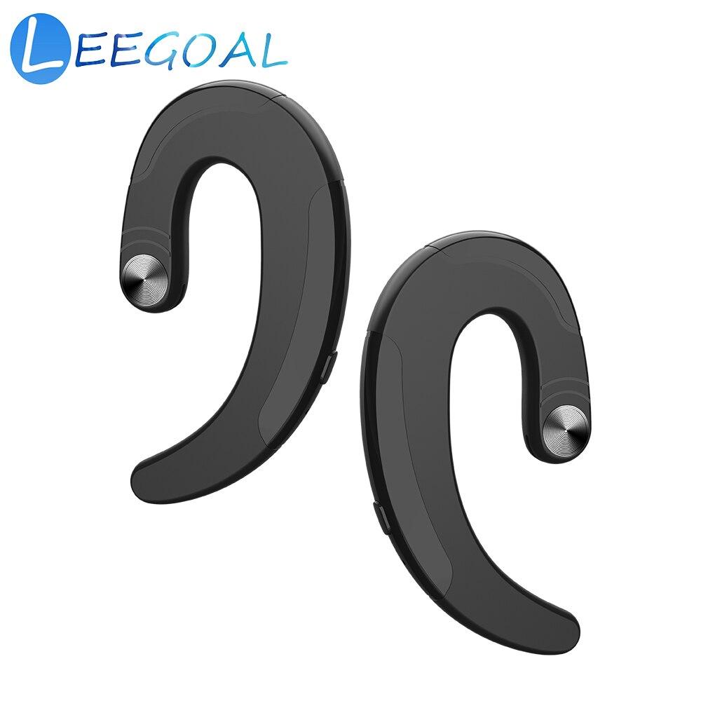 1 pares inalámbrico Bluetooth auriculares con micrófono oído-gancho cancelación del ruido auriculares indoloro usando auriculares deportivos para IOS Android