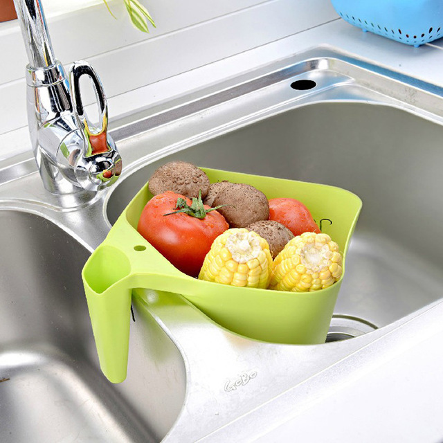 Hot Sale Plastic Rainfall Handle Drop Fruits Vegetables Basket Washer  Kitchen Accessories Home And Garden Stuff