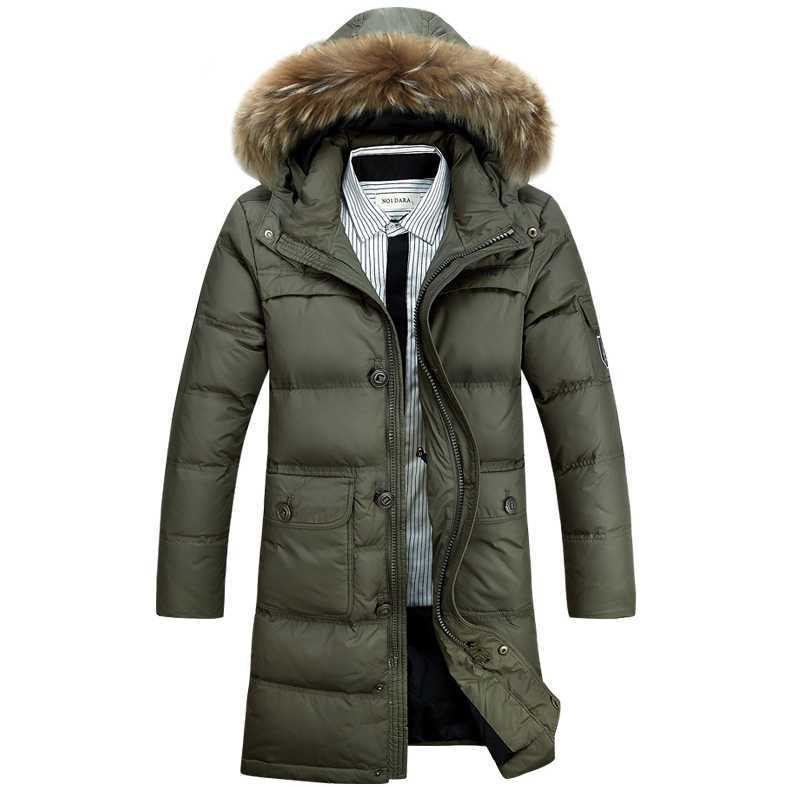 2015 Hot New Winter Parkas Men White Duck cotton Long Jackets Men's Fur Collar cotton Coats Overcoats Good Quality 3XL H4430