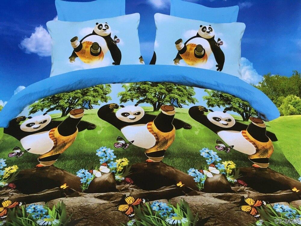 Wensd Reactive Printing Kung Fu Panda Bedding Housse De Couette Western Style Home Animal Tiger Cat Dekbedovertrek Edredon In Sets From