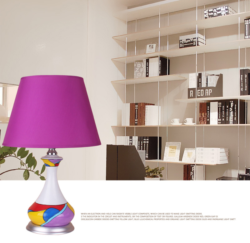 Post modern colorful table lamps hand drawing pattern cloth 6 aloadofball Choice Image