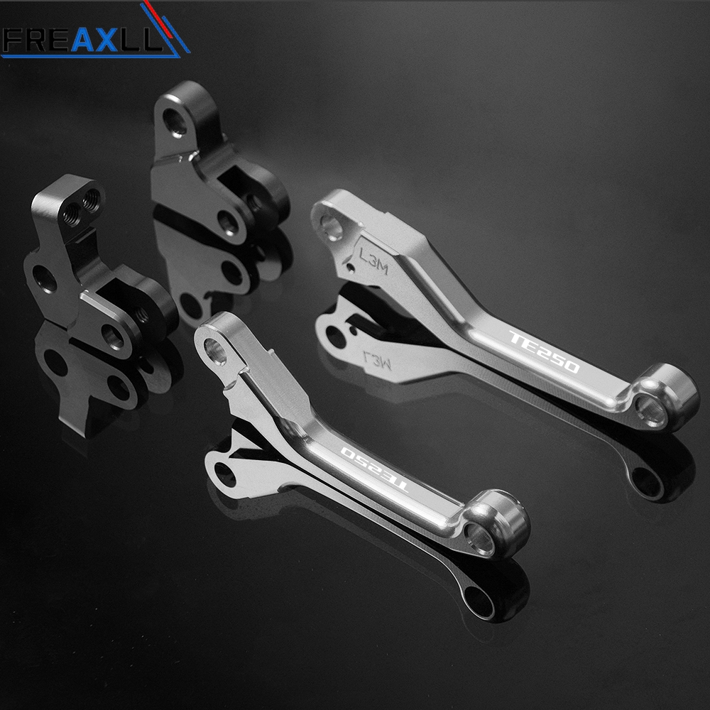 For HUSQVARNA TE250 TE 250 2014 2015 2016 2017 Motorbike Accessories CNC Pivot Motorbike Pit Dirt Bike Brake Clutch Levers in Levers Ropes Cables from Automobiles Motorcycles