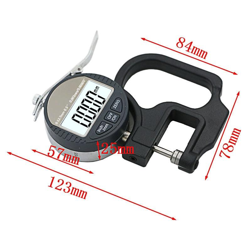 0,001 mm elektroninis storio matuoklis 10 mm skaitmeninis mikrometro - Matavimo prietaisai - Nuotrauka 2