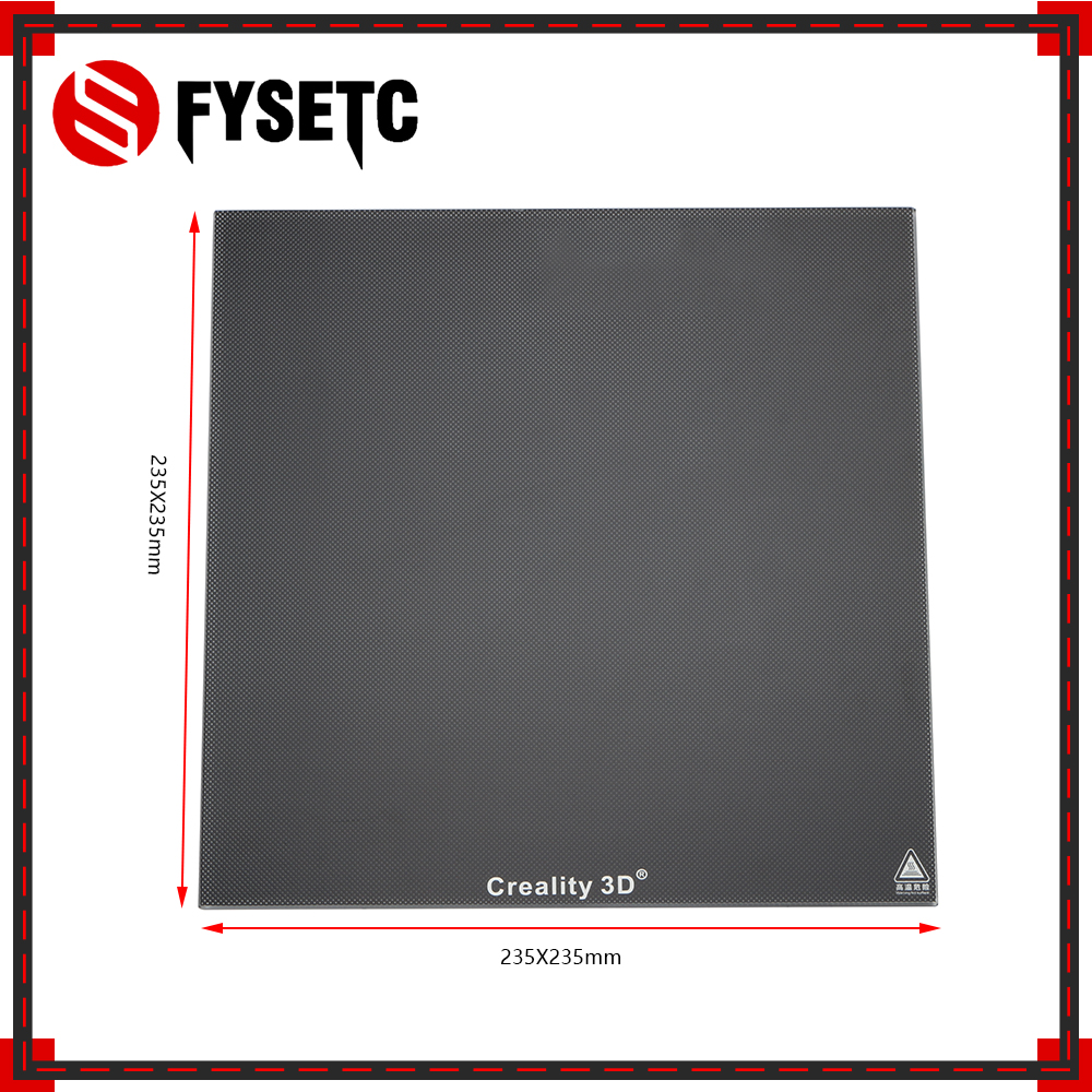Creality 3D Ultrabase 3D Printer Platform Heated Bed Build Surface Glass Plate 235*235mm Thick 4mm For Ender-3 MK2 MK3 Hot bed цена 2017