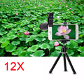 2017 Телефон Камеры Lentes Комплект 12X Зум-Объектива Телескопа С Треногой Для Samsung Galaxy S3 S4 S5 S6 S7 edge ПРИМЕЧАНИЕ 2 3 4 5 7