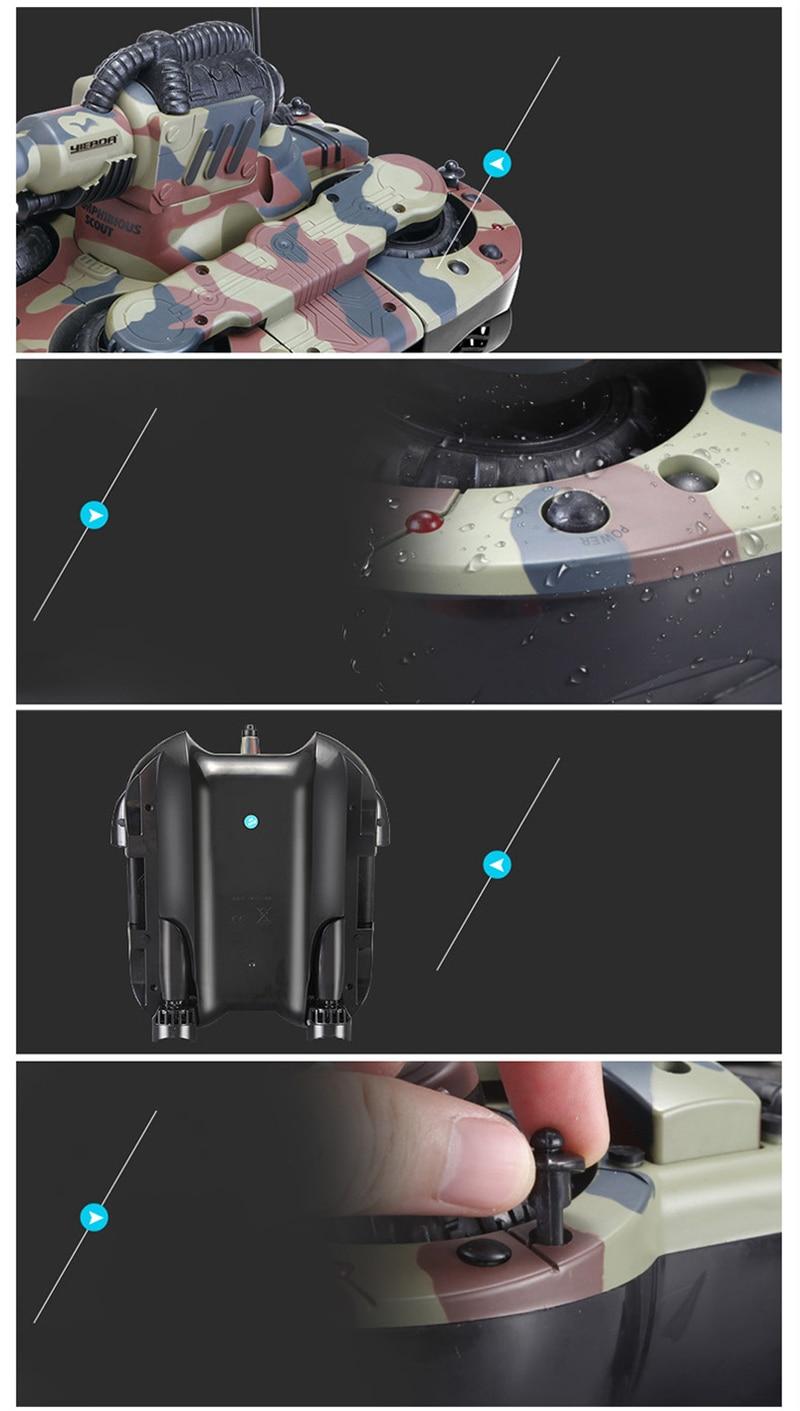 Radio Control Tanks Amphibien Land Wasser Robotic Fernbedienung RC Tank Kit Spielzeug Für Jungen Modell Rc Militär Kunststoff Schlacht spielzeug - 4