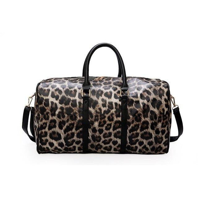 Travel Sport Bag Men Training Shoulder Bag PU Leopard Print Sport Bag For Women Sac De Sport Fitness Waterproof Gym Yoga Handbag