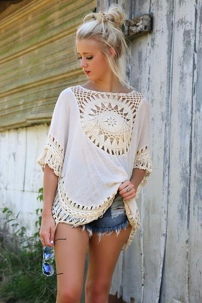 Quality Crochet Bikini Cover-ups Hollow Out Women Handmade Beachwear Bohemia Robe Cover up One-piece Flax Vacation Smock 10