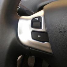 Carmilla авто-Стайлинг ABS Хром Интерьер рулевого колеса украшения отделка наклейка для peugeot 308 аксессуары