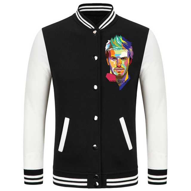 2016 World Cup David Beckham thick velvet baseball uniform camiseta barcelonae 2016 big size men clothing camisetas de futbol