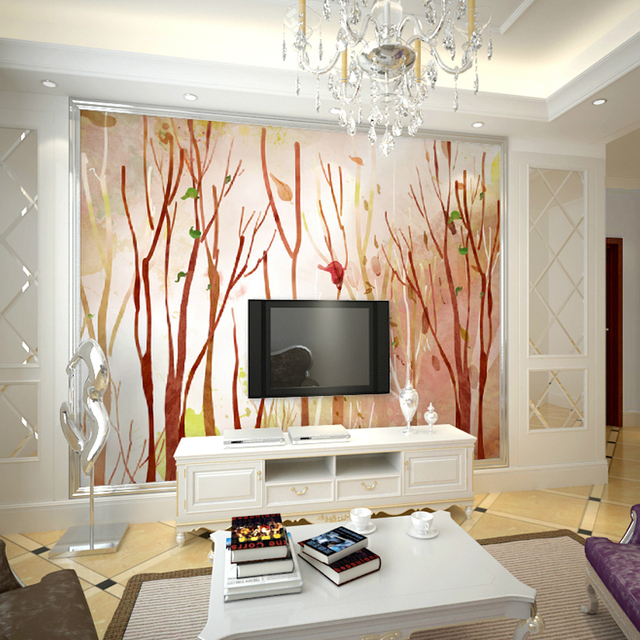 3d Three Dimensional Mural Seamless Simple Definition TV Backdrop Wallpaper Wood Dining Room Den
