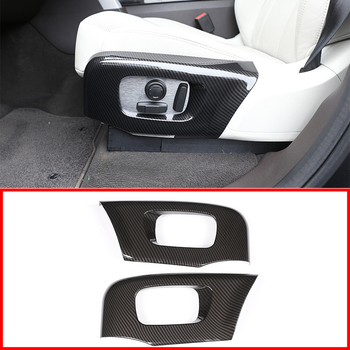 ABS Car Seat Side Decoration Cover Frame Trim For Land Rover Discovery 5 17-18 Land Rover Range Velar RR Sport 2018 Accessory