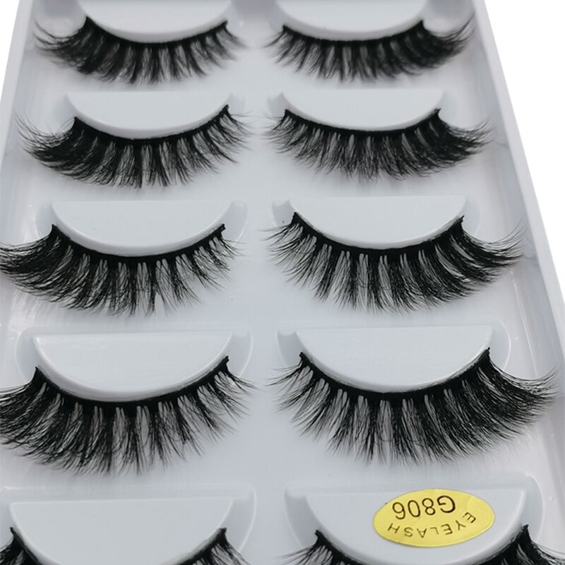 5pairs Mink Eyelashes Natural Long False Eyelashes Hand Made 3d Mink Lashes Maquiagem Cilios Makeup For Maquillaje Faux Cils