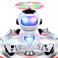 Smart Space Dance Robot Electronic Walking Toys 360 Rotating Space Robot Astronaut Kids Music Light Toys