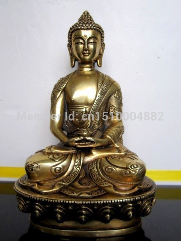Shitou 0024 Tibet Buddhis Amitabha bronz buda heykeliShitou 0024 Tibet Buddhis Amitabha bronz buda heykeli