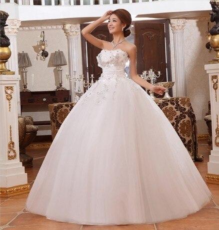Free shipping 2013 new arrival wedding dress sweet princess bride tube top bandage white flower