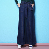 2018 Spring And Autumn New European And American International Fan Jeans Women S Fashion Wide Leg
