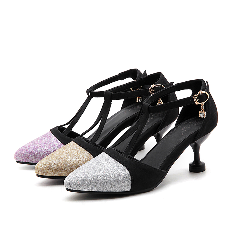 2017 New Wedding Shoes Big and small Size 32-47 Ladies Spring Summer Sandals Shoes Woman High Heels Party sexy fashion shoes 558 2017 free shipping siketu spring and autumn women shoes fashion high heels shoes wedding shoes pumps g174 summer sandals
