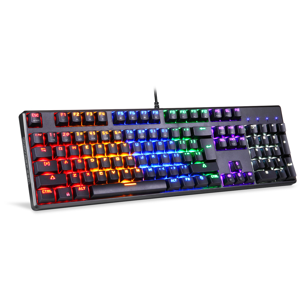 New Arrival Motospeed CK96 Mechanical Keyboard 104 Keys Gaming Keyboard Full Keyboard with LED Backlit for Teclado Gamer mechanical gaming keyboard motospeed k10 aluminium alloy top cover with bicolor injection keycaps keyboard gamer retail package