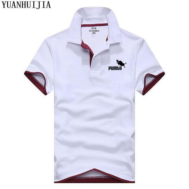 Новые Для мужчин s одежда рубашки поло Для мужчин модные Пумба печати Бизнес Повседневное с лацканами Для мужчин Для женщин поло Лето Джерси костюм 2018