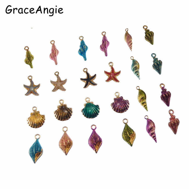 40PCS Nautical Fashion Jewelry Mixed Sea Shells Shell charms Crafts For Earrings Necklace DIY Hair Accessories Keychain Funny
