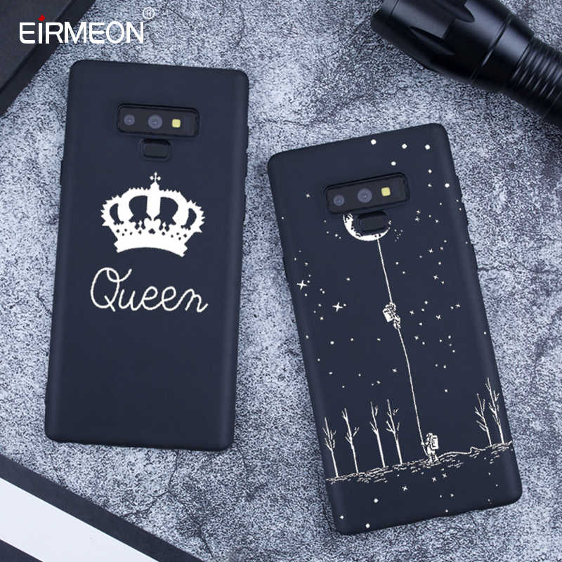 Zwarte Matte Patroon Case Voor Samsung Galaxy Note 9 A8 A6 Plus 2018 S9 S8 Plus S7 Rand A5 A3 a7 J7 J5 J3 2017 Cool lPhone Covers