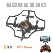 F19W-1 мини селфи RC Quadcopter дроны Wi Fi FPV системы Drone 0.3MP камера высота Удержание Headless режим 360'Flips RTF Вертолет