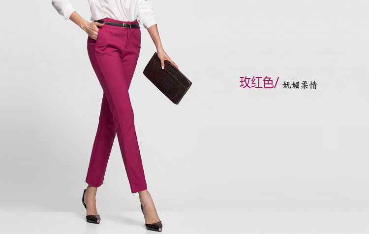 18 NEW women's casual OL office Pencil Trousers Girls's cute 12 colour Slim Stretch Pants fashion Candy Jeans Pencil Trousers 12