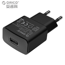 Фотография ORICO 5V1A 5V2A USB Charger Travel Wall Charger Adapter 5W 10W Portable Smart Mobile Phone Charger EU Plug Black White Available