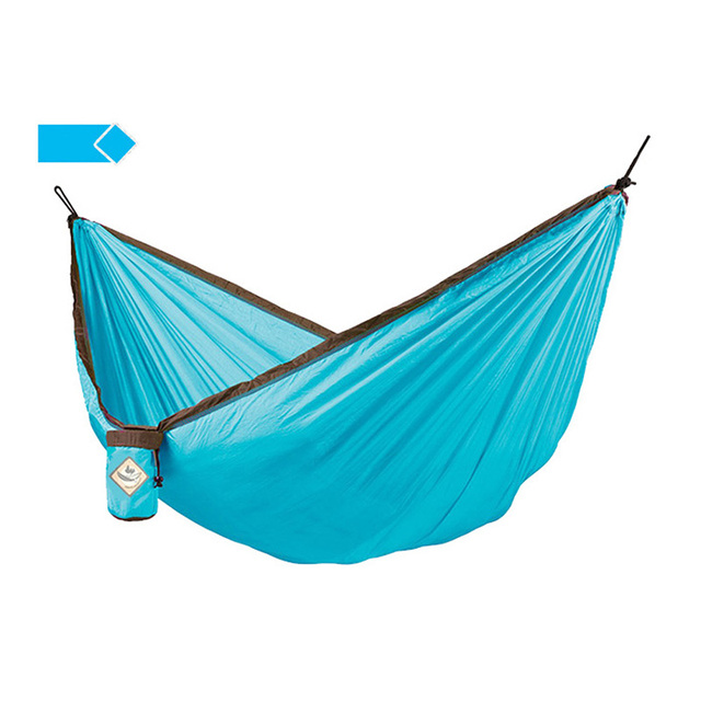 Medium image of portable camping hammock parachute cloth hammock for single or double load bearing 300kg leisure swing travel