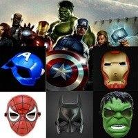 20 Teile/los Halloween maske Avengers Hulk kunststoff maske Superman Batman Spider-Man Iron Man maske leistungen prop großhandel C-070