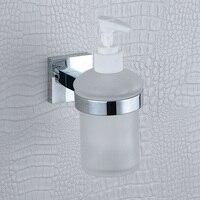 Glas Zeepdispenser Pomp Muurbevestiging Hand Wassen Douche Wasmiddel Shampoo Chrome Zeep Lotion Dispenser voor Badkamer Hotel