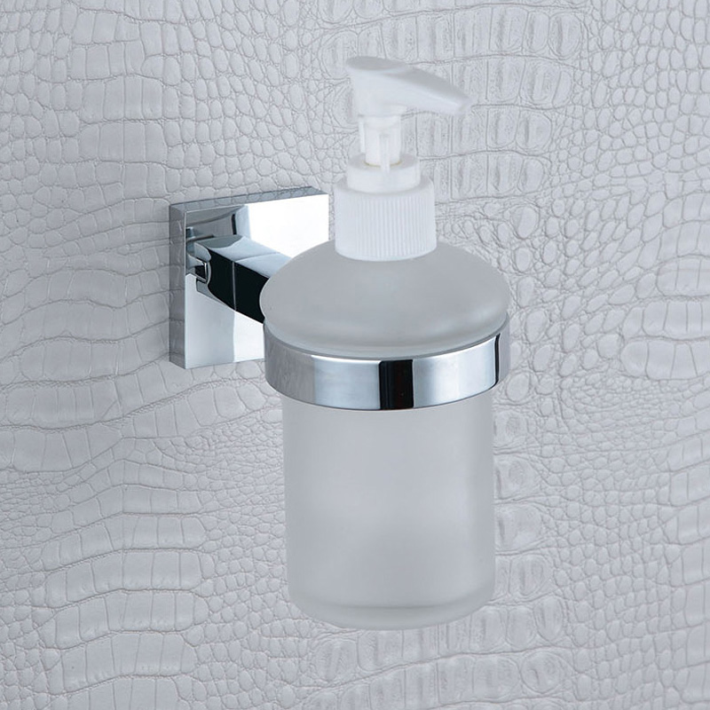 Glass Liquid Soap Dispenser Pump Wall Mount Hand Wash Shower Detergent Shampoo Chrome Soap Lotion Dispenser for Bathroom Hotel automatic infrared sensor free punching liquid soap container wall mount pump lotion drop soap dispenser for bathroom toilet
