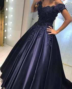 Vestido de festa Sexy Off The Shoulder Lace A line Prom Dresses 2017 abendkleider Modern Evening Party Dress - DISCOUNT ITEM  45% OFF All Category