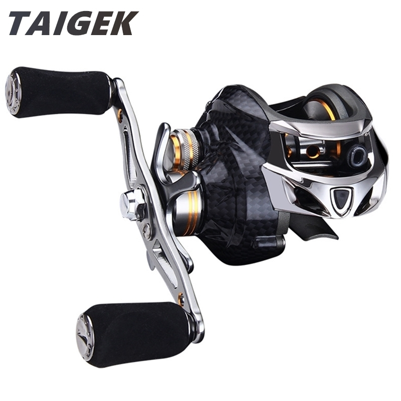 Taigek 19BB Max Drag 10kg Fishing Tackle Fishing Baitcasting Reel 7.0: 1 Left Right Hand Surf Bait Casting Baitcaster Fishing Reel