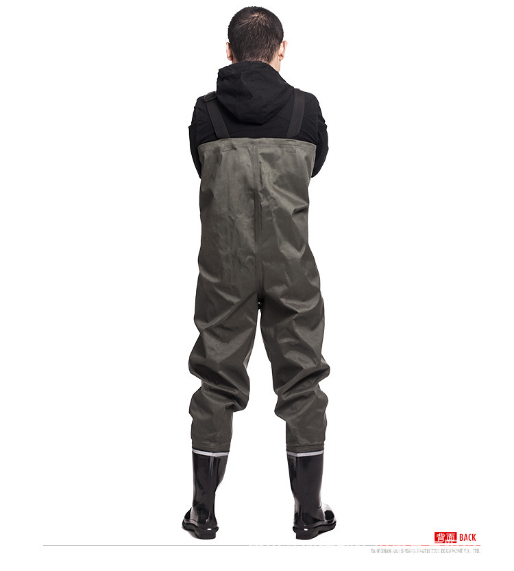 8d9665f6ed16 Waterproof Clothing Thick Wear-resistant Water Pants Fishing Hunting ...