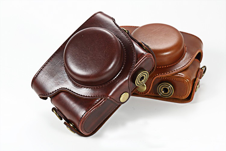Camera Leather Case <font><b>Bag</b></font> Cover Pouch for Panasonic <font><b>LUMIX</b></font> <font><b>LX100</b></font> DMC-<font><b>LX100</b></font> Camera Package image