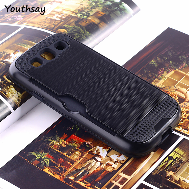 Youthsay For Coque Samsung Galaxy S3 Case i9300 Cover Armor Phone with Card