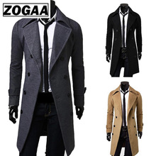 2018 New Geek Mens Wool Coat Jacket Double-breasted Mens Ove