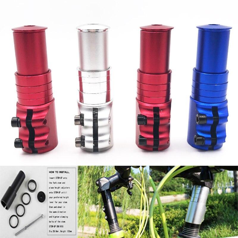 Aleación de aluminio aumentó el tubo de control extend manillar STEM altura tenedor delantera de la bici bicicletas piezas accesorios