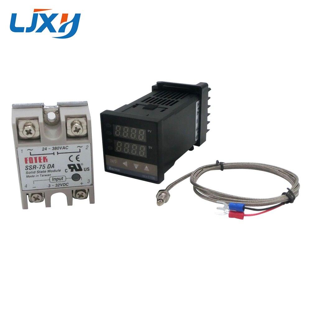 Image 4 - Цифровой PID контроль температуры Лер термостат REX C100 Тип K термопары зонд SSR реле для контроля температуры нагревателя-in Запчасти для электроводонагревателей from Бытовая техника