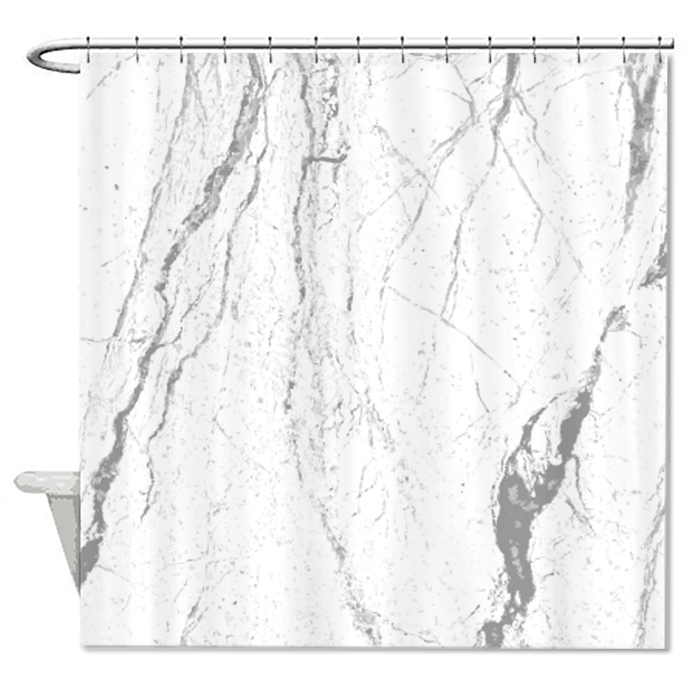Design Marble Star Clouds Pattern Shower Curtain Customized ...