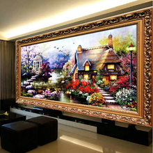 Garden Scenery Patterns Needlework DIY Cross-stitch Embroidery Painting Kit Cross Stitch Printed on Canva Handicrafts(China)